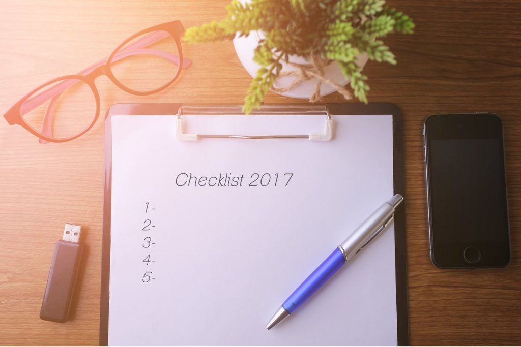 End of the year business checklist