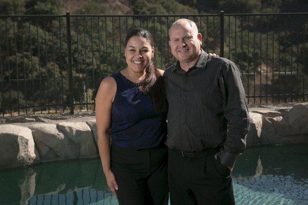 Yvette Salas and Joey Harmon