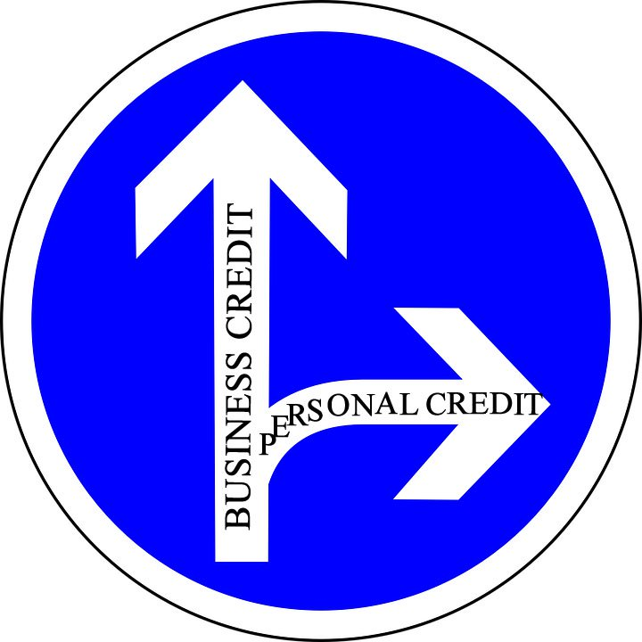 the difference between personal and business credit